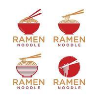 ramen noodle logo vector template
