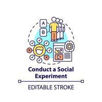 Conduct social experiments concept icon vector