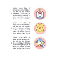 Heatstroke prevention concept line icons with text vector