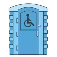 Toilet for disabled people. Mobile portable bio toilet icon. vector