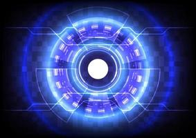 Abstract background. Virtual reality technology. Futuristic HUD circle vector