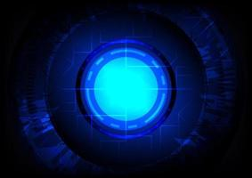 Abstract hi-tech background. Virtual reality. Sci-Fi glowing HUD vector