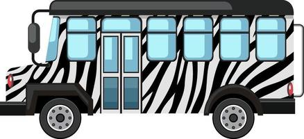 Zoo concept with Safari bus isolated on white background vector