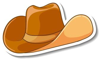 A sticker template with a cowboy hat isolated vector