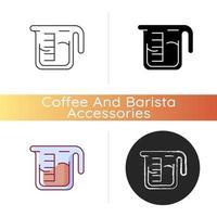 Coffee measuring cup icon vector