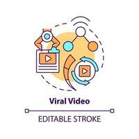 Viral video concept icon vector