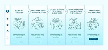 ASD diagnosis onboarding vector template