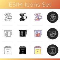 Coffee shop icons set vector