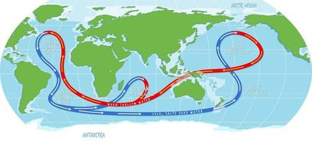 The ocean current world map vector