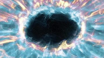 Radial fractal light strands ripple and shine - Loop video