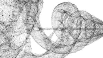 filo di dna wireframe futuristico - loop video