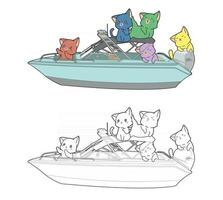 cartoon coloring sheet vector