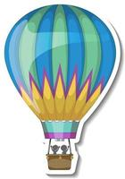 A sticker template with Hot balloon air isolated vector