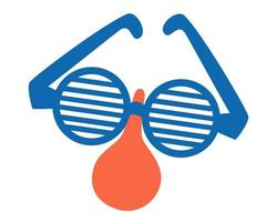 Funny disguise glasses with nose. Accessory for party. vector