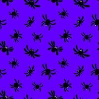 patrón sin costuras con araña vector