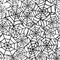 patrón sin costuras con una telaraña vector