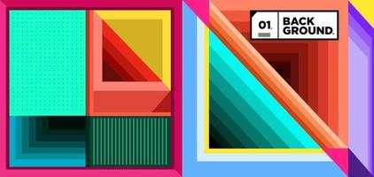 Vector colorful geometric ethnic pattern background