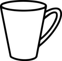 taza en estilo doodle. ilustración vectorial vector
