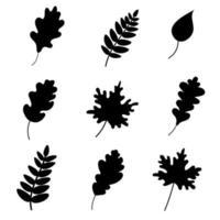 Autumn fallen leaves.vector illustration vector