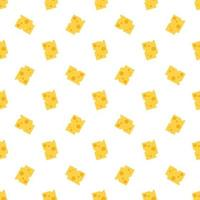 Cheese seamless pattern. vector