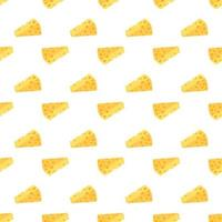 Cheese seamless pattern. Pieces of yellow cheese vector