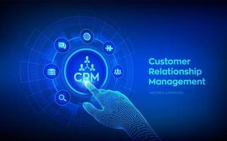 CRM. Customer Relationship Management. vector