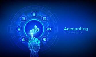 Accounting. Accountancy service. Banking Calculation. vector