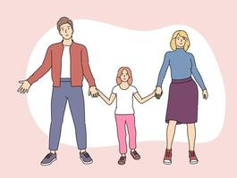Happy family parenthood children vector