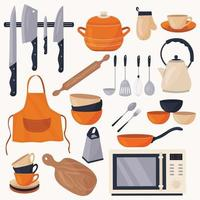 Kitchen utensils for cooking. vector
