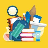 back to school in new normal life vector
