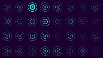 Cute beautiful flat abstract circles background video