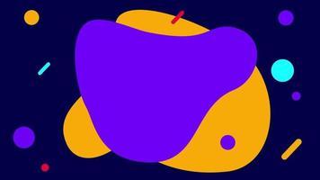 prachtige veelkleurige abstracte vormen achtergrond video
