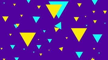 Beautiful multicolored abstract shapes background video