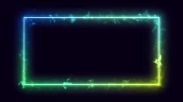 abstrait de belles lignes lumineuses video