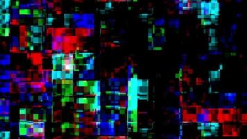 Abstract digital glitch background video
