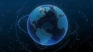 Network map or global business digital technology concept video