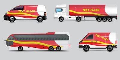Free Vector car identity template design set.