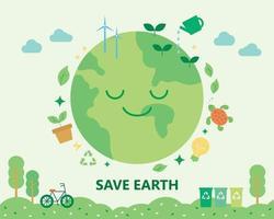 Environmental protection poster vector
