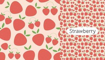 Strawberry seamless pattern design template. vector