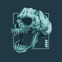 Skull Roars Vector Artwork