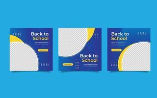 Template social media post back to school vector
