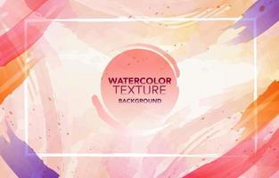 Bright Vibrant Pink Orange Purple Watercolor Background vector