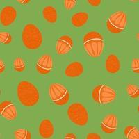 vector illustration. background. seamless pattern. egg. orange.
