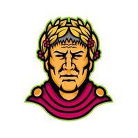 julius caesar head mascot retro vector