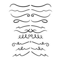 Set Of Decorative Calligraphic Elements For Decoration. vector