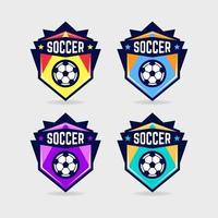 Soccer Logo or Football Club Sign Badge Set. vector