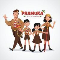 Pramuka Character Set vector