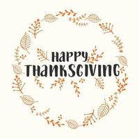 Autumn lettering calligraphy phrase - Happy Thanksgiving vector