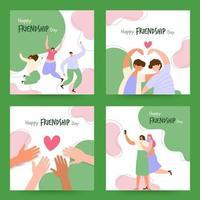 tarjeta del dia de la amistad vector