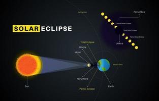 Solar Eclipse Infographic vector